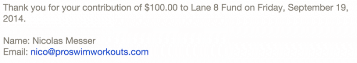 Lane 8 Donation