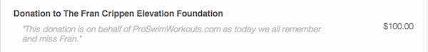 Donation Fran Crippen Foundation